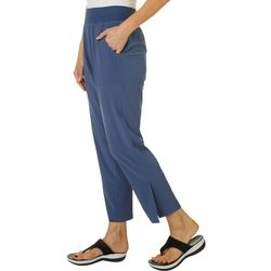 Womens Solid Woven Pants