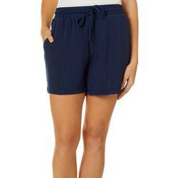 FUDA Womens Solid Drawstring Shorts