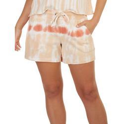 Womens Knit Tie Dye Shorts