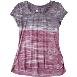 HALCYON Womens Ombre Tie-Dye Round Neck Tee
