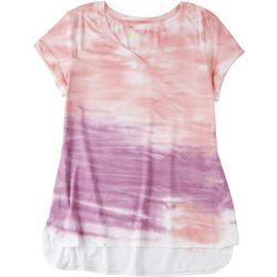HALCYON Womens Multi Tie-Dye V-Neck Tee