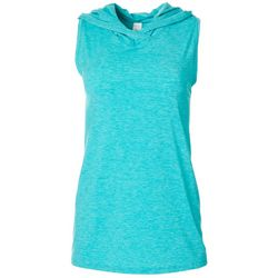Love. Life. Live. Womens Solid Keyhole Back Hooded T-Shirt