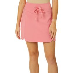 Love. Life. Live Womens Solid Drawstring Skort