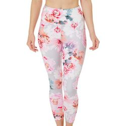 Love. Life. Live Womens Feminine Floral Print Crop Leggings