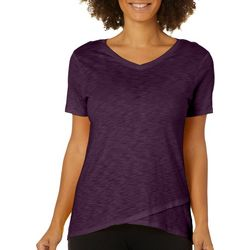 Love. Life. Live. Womens Layered Look V-Neck T-Shirt