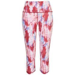 Womens 16'' Tie-Dye Artistic Active Capri