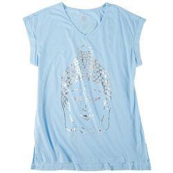 Brisas Womens Buddha Sleeve T-Shirt