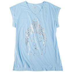 Womens Buddha Sleeve T-Shirt