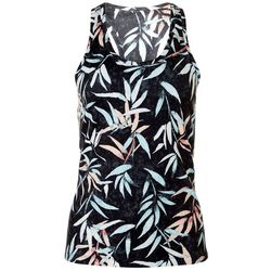 Brisas Womens Palm Leaf Print Sleeveless Top
