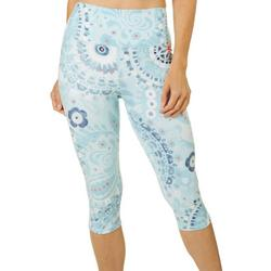 Womens Mandala Print Capri Leggings
