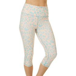 Womens Leopard Print Capri Leggings