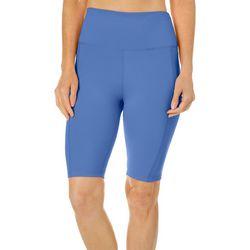 Womens Solid Bike Shorts