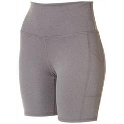 Womens Solid Biker Shorts With Side Pockets