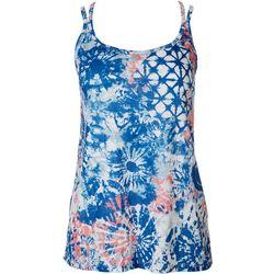 Brisas Womens Vital Tie Dye Printed Tank Top