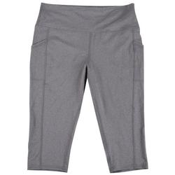 Womens Heathered Pocket Capris