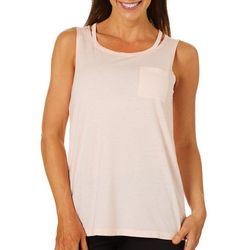 Brisas Womens Solid Chest Pocket Tank Top