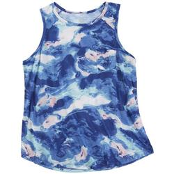 Womens Waves Front Pocket Tank