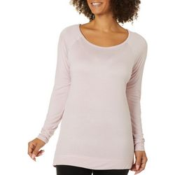 Womens Ruby Lattice Back Long Sleeve Top