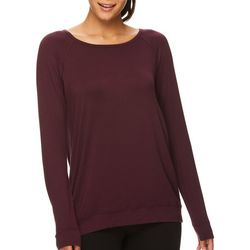 Gaiam Womens Ruby Lattice Back Long Sleeve Top