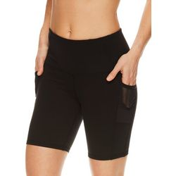 Gaiam Womens OM Solid High Rise Bike Shorts