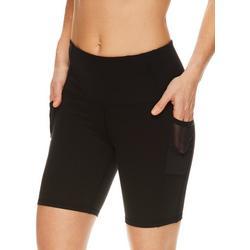 Womens OM Solid High Rise Bike Shorts