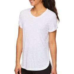Gaiam Womens Layla Solid Cuff T-Shirt