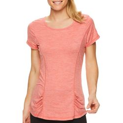 Gaiam Womens Back Cut Out Short Sleeve Top