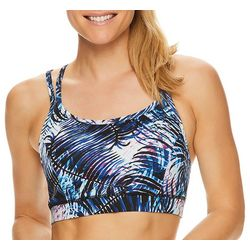 Gaiam Womens Palm Print Shine Sports Bra