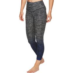 Womens Heathered Dip Dye Capri Leggings