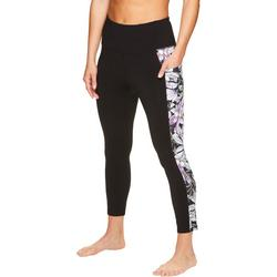 Womens Emery Print Panel Ankle Leggings