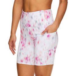 Womens OM Graphic Print High Rise Shorts