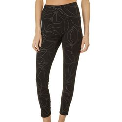 Gaiam Womens OM Cora Dot Print High Rise Capri Leggings