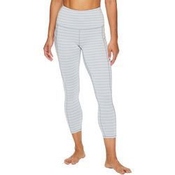 Womens OM Stripe Print High Rise Capri Leggings