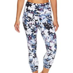 Gaiam Womens OM Floral Print High Rise Capri Leggings