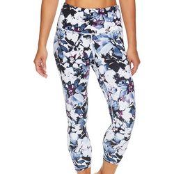 Womens OM Floral Print High Rise Capri Leggings
