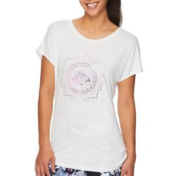 Gaiam Womens Intention Graphic Short Sleeve Top
