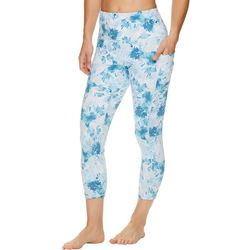 Gaiam Womens Brush Stroke Print High Rise Leggings
