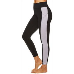 Gaiam Womens Om Colorblock Metal High Rise Leggings