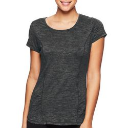 Gaiam Womens Solid Rouched Detail T-Shirt