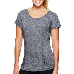 Gaiam Womens Speckled Slight Rouched Detail T-Shirt