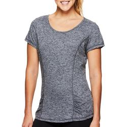 Womens Speckled Slight Rouched Detail T-Shirt