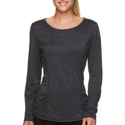 Gaian Womens Long Sleeve Ruched Top