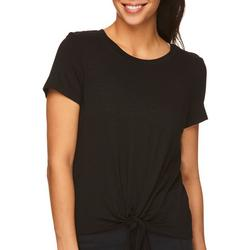 Womens Solid Kenzie Tie T-Shirt