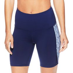Gaiam Womens Essie Graphic Panel High Rise Shorts