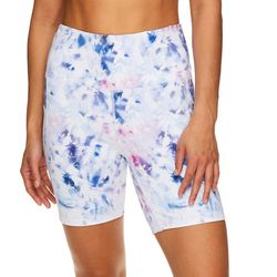 Gaiam Womens Riley Graphic Print High Rise Shorts