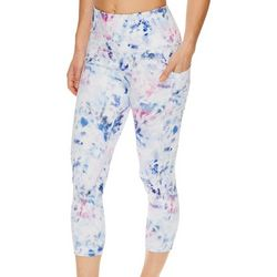 Gaiam Womens Riley Graphic High Rise Capri Leggings