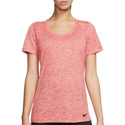 Nike Womens Solid Legend Heathered Short Sleeve Top