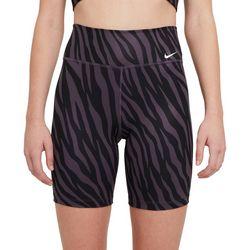 Nike Womens Everyday Zebra Print Biker Shorts