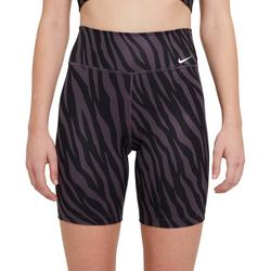 Womens Everyday Zebra Print Biker Shorts