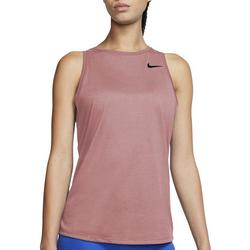 Womens Solid Sleevless Tank Top With Nike Logo